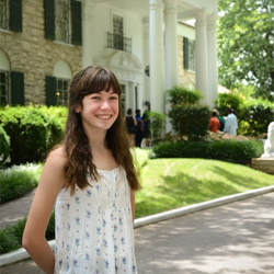 "Actress Grace Kaufman, who stars in ""The Last Ship,"" visited Graceland on June 17."