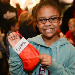 Kids created their own stockings at the Graceland Lighting Ceremony.