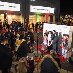 Members of the cast and crew of Christmas at Graceland walked the red carpet at the Graceland Soundstage.