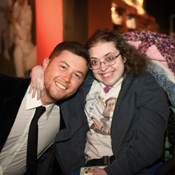 Country star Scotty McCreery met with one of his biggest fans Ginny before the Lighting Ceremony.