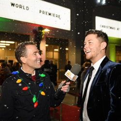 Scotty McCreery walked the red carpet following the Lighting Ceremony.