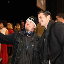 Christmas at Graceland star Wes Brown took selfies with fans.