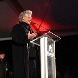 Country star Marty Stuart had the honor of flipping the switch on Graceland