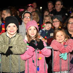 Young Elvis fans kicked off the Christmas season at Graceland!