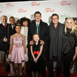 The cast and crew of the Hallmark Original Movie Christmas at Graceland celebrated the movie at Graceland.
