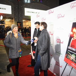Christmas at Graceland cast members talked with the media on the red carpet.