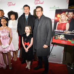The cast of Christmas at Graceland attended the premiere at the Graceland Soundstage.