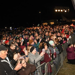Hundreds of Elvis fans showed up for the Lighting Ceremony.