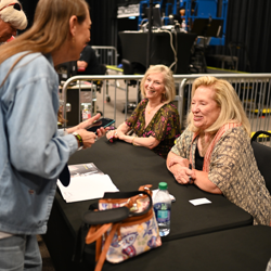 Bonya McGarrity and Pat West met with fans after the panel.