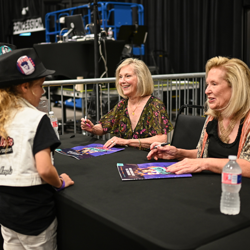 Bonya and Pat met with young Elvis fans after the panel.
