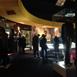 Visitors take in exhibits at Elvis at The O2.
