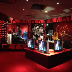 An exhibit inside Elvis at The O2.