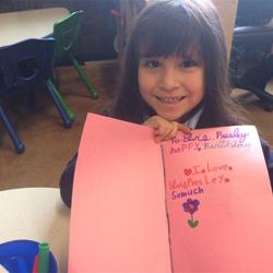 Kindergarten students in Missy Fleshman
