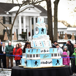 This was the largest birthday cake in Graceland history.