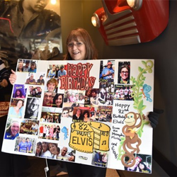 Fans created posters and signs for Elvis