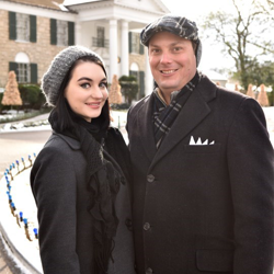 Guests braved 18-degree weather to wish Elvis a happy birthday.