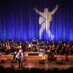 Terry Mike Jeffrey performs with the Memphis Symphony Orchestra during the Elvis Birthday Celebration.
