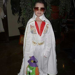 Alex dressed as the king for Halloween a few years ago.
