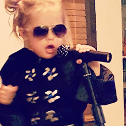 Three-year-old Gracelynn is a big Elvis fan.