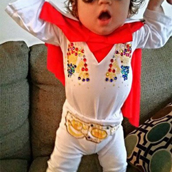 Six-month-old Carter from Chicago is ready to rock