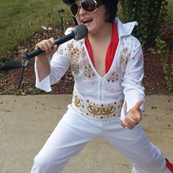 Landen has perfected his rock star moves!