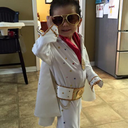 Donald loves his Elvis costume.