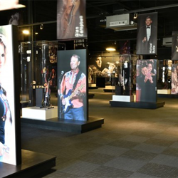 The Icons exhibit showcases artifacts from artists who were inspired by Elvis, such as Trisha Yearwood, Michael Buble, Jimi Hendrix and John Lennon.