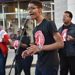 Students in the Stax Music Academy performed for guests during the grand opening celebration.