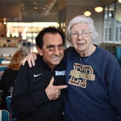 George Klein and Marian Cocke spend time together at the Elvis Presley
