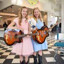 Gladys & Maybelle played acoustic versions of Elvis and rockabilly hits during their performances at Elvis Presley