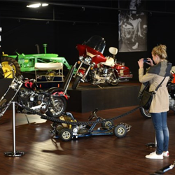 In the Presley Cycles Exhibit, fans can get up close and personal with Elvis