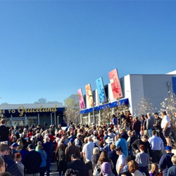 Fans from around the world gathered for the ribbon cutting ceremony at Elvis Presley