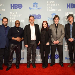 Producer Kary Antholis, legendary music producer David Porter, director Thom Zimny, executive directors Priscilla Presley and Jerry Schilling and Sony Music