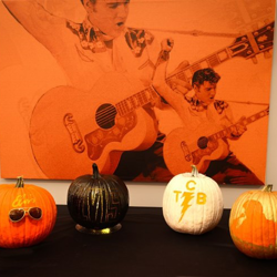 Pumpkins decorated by the staff at Graceland. #ElvisPumpkin