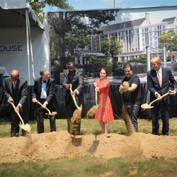 Priscilla Presley joins EPE officials and city officials for The Guest House at Graceland Grounbreaking Ceremony on August 14, 2014.