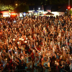 The 2014 Candlelight Vigil took place August 15, 2014, at the gates of Elvis Presley