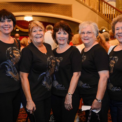 "Elvis ladies in full force during the Elvis Week screening of ""That"