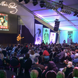Fans pack the Elvis Week Main Stage for the Gospel Celebration - the final event for Elvis Week 2014.