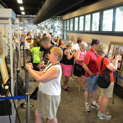 Elvis fans experience the Graceland Archives for this first time on August 8, 2014.