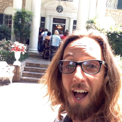 Elvis Week video host Memphis Jones takes a selfie as the Graceland team prepares for Elvis Week 2014.