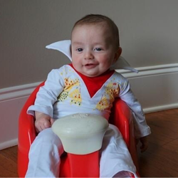 Three month old Davis Richardson is celebrating Elvis Week!
