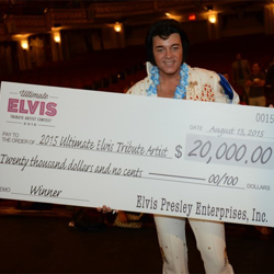 David Lee won the 2015 Ultimate Elvis Tribute Artist Contest.