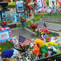Fans from across the world sent fowers and other memorials to Graceland for the Meditation Garden.