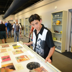 Fans examined Elvis artifacts during Elvis Week.