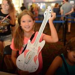 Kids made Elvis-inspired crafts during Elvis Week.