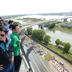 Ultimate ETA Contest Semifinalists admire the view from the top of the Pyramid in Memphis, home to Bass Pro Shops.