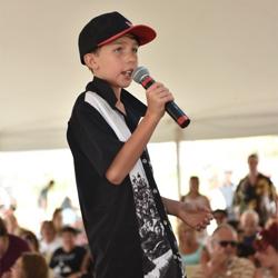 Kids performed their favorite Elvis songs at Youth Karaoke at Elvis Week.