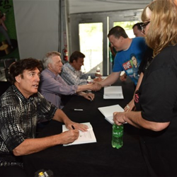 Ronnie McDowell met with fans at his book signing during Elvis Week.