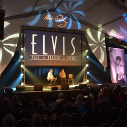 Fans get a preview of the new Elvis: Past, Present & Future entertainment complex at the Conversations on Elvis panel.