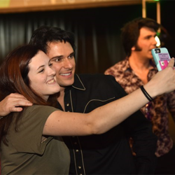 Semifinalist Diogo Light snaps a selfie with a fan after the Showcase.